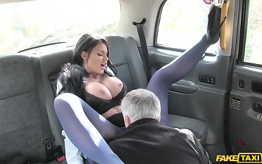 Fake hansom cab porn special with a busty porn doll