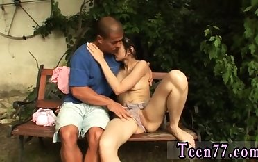 Greek teen coupled with fat latin Miho gets pounded in chum around with annoy backyard