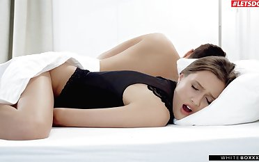 Horny cutie Stacy Cruz pleasures will not hear of cravings next everywhere will not hear of sleeping hubby