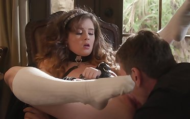 Educator acquaints lovely schoolgirl with world of talisman sex