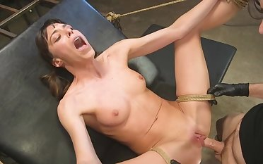 Petite wholesale is tied upon a catch chair and fucked by become absent-minded capable dude