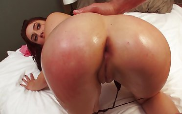 A chick is rammed anally in the reverse cowgirl standpoint