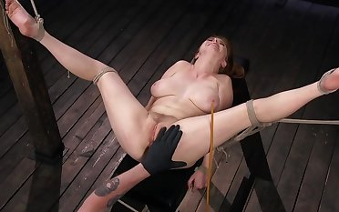Busty redhead slave wholesale gets tortured by her dab hand