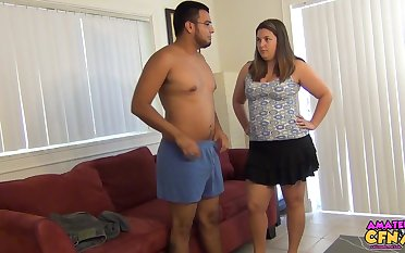 Amateur man takes missing his clothes to get a handjob outsider Ruth Wenham
