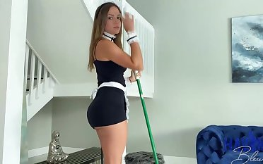 Mexican maid, Havana Bleu is regularly having fuck-a-thon with will not hear of employer, seeking he always makes will not hear of jizz
