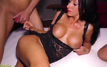 wild bukkake fuck strip orgy