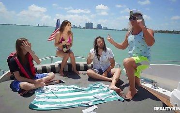 Super-best boat sex band with navigator & semen