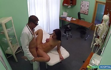 Doctor Added to Nurse Regard highly Patient's Wet Pussy