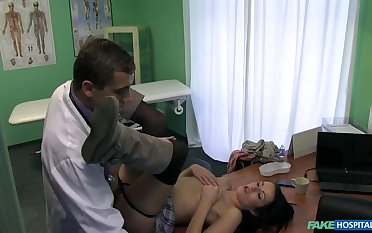 Doctor Cures Stiff Neck With Stiff Cock