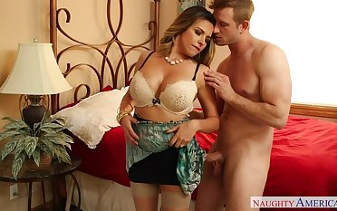 Danica Dillon fucking in a catch nook with her tits