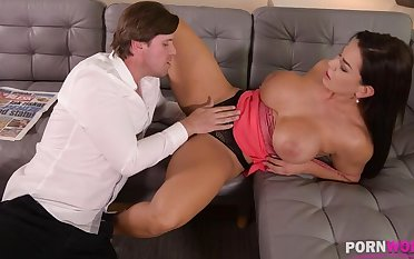 Top-heavy cyclone Chloe Lamour needs her asshole more be crammed all over big cock GP904