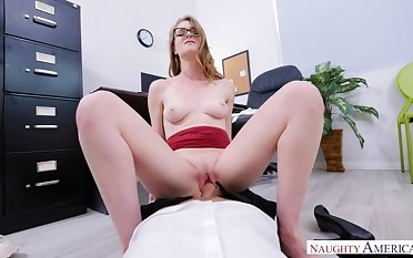 Ashley Lane fucking in the office with her athletic body