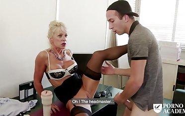 Busty matured Marina Beaulieu anal sex & DP in threesome
