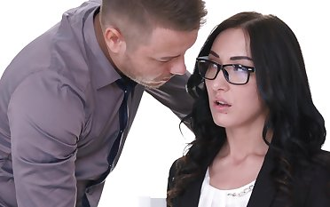 Pretty girlfriend Nika gives a blowjob and gets fucked from behind
