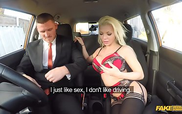 Fake Driving Tutor - Examiners Sexual Skills Secure Labour 1 - Barbie Sins