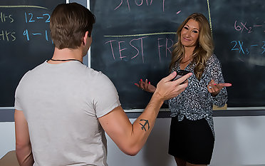 Mrs. Rider gets blackmailed into having coition with her student.