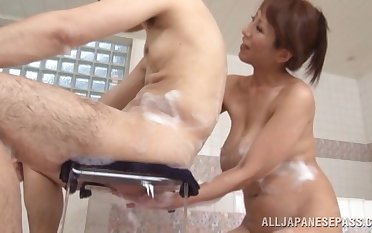 Closeup pic of an fetching Japanese ungentlemanly getting fucked hard