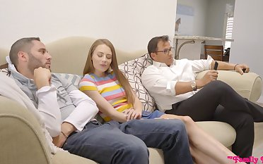 Alarming quickie in a difficulty living-room with desirable Kyler Quinn