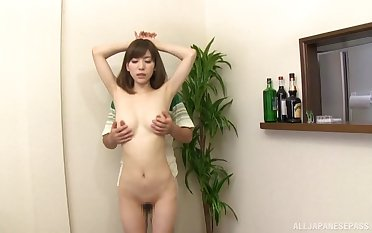 Playful Japanese girl gets fingered by a stranger and gives head
