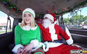 Kinky fucking back dramatize expunge van with naughty blondie Maddie Winters
