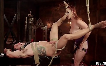 Bdsm Ginger Dominating Sub With Cbt And Feet After Wakening