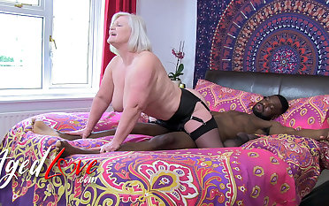AgedLovE British Mature Lacey Starr Interracial Blowjob coupled with Harcore Sex