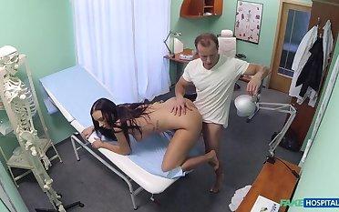 Instance seduces doctor alongside cover her medical dough
