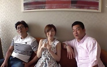 Kinky Japanese MMF threesome with sweet chick Satomi Yuria