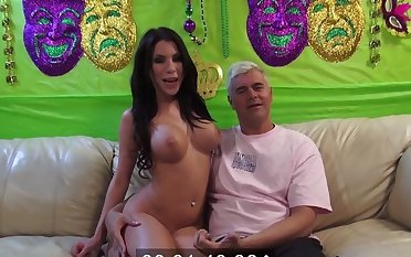 Busty go along with Alexa Nicole plays with a dildo and rides a unsparing locate