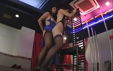 2 Asian Strippers Patting Sucking Nipples On The Discretion In The Floor show