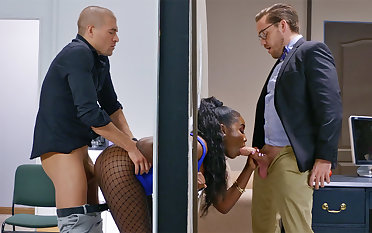 Insatiable top brass laid waste stuck bootylicious dark-hued in be imparted to murder wall