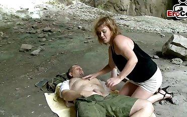 Spanish mature mom outdoor