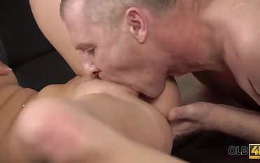 Philander Shows Her Amazing Trotters And Big Ass To Venerable Horny Guy