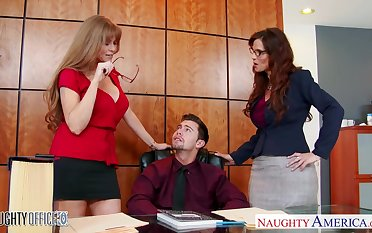 Afternoon office sexual intercourse around two bodacious matures Darla Crane with the addition of Syren De Mer