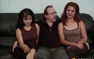 Petite Latina MILF Joselle shares her husband's dick with a friend