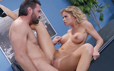Jessa Rhodes tries steamy sex at the office