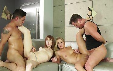 The perfect foursome for Candice Dare and Alexa Nova