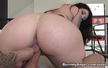 Crazy pornstars in Amazing Big Ass, Brunette sex video