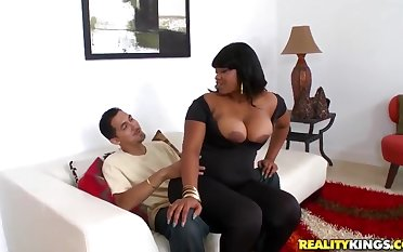 Black bitch Dana Dior gets her big booty nailed