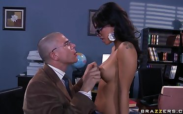 Asa Akira and Mick Blue relax after studies