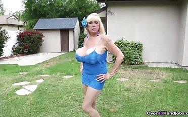 Obese tit blonde tit shacking up session