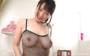 Shove around Japanese babe Mashiro An creampied after a hardcore fuck