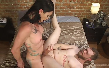 Morgan Bailey adores to drag inflate her friend's penis before hard anal sex