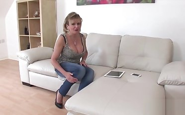Adulterous english milf lass sonia showcases her enormous melons