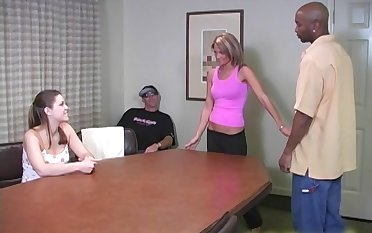 There is nothing better for Katie Thomas than a threesome on the table