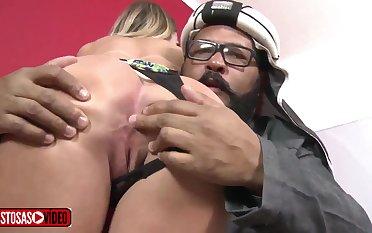 Honcho Nasty Auriferous Hair Tot Babe Had Sex Really Goo - brazilian