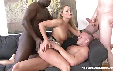 Anal seduction with three guys in totalitarian home XXX