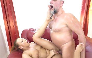 Attila rub-down the Lusty Gramps Fucking a Fair-haired Stunner