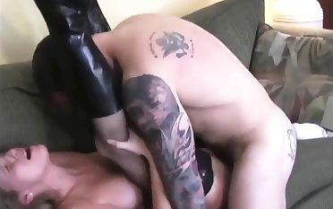 USMC Bull Makes Hot Girl Cum